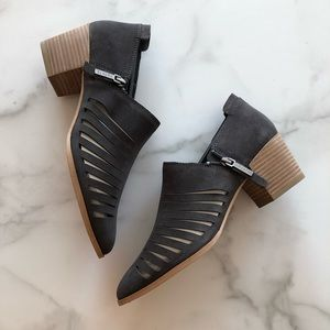 1.State Arnet Charcoal Slit Cutouts Pointed Bootie